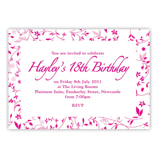 18th Birthday Party Invitation Wording Extraordinary 18Th Invitations As