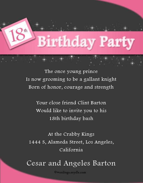 18th birthday party invitation wording samples ; 18th-birthday-party-invitations-as-winsome-Party-Invitation-Template-we-give-good-quality-22
