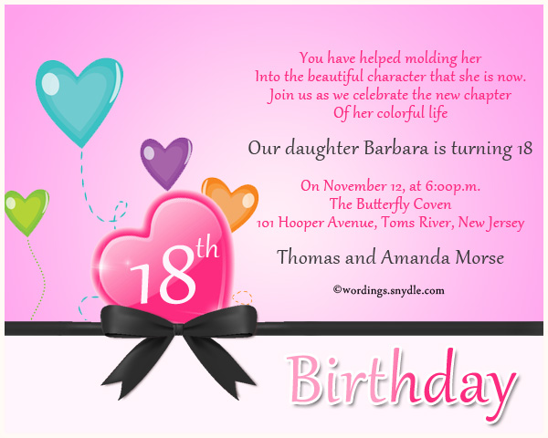 18th birthday welcome message ; 18th-birthday-invitation-cards