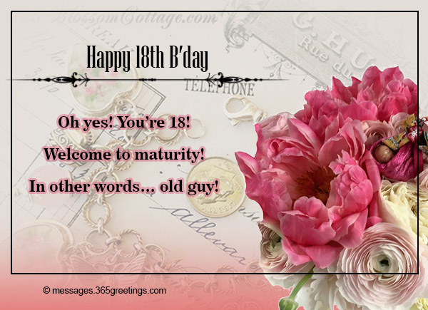18th birthday welcome message ; 18th-birthday-wishes-and-greetings-12