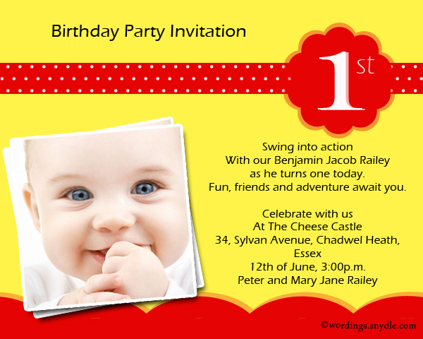 1st birthday evite message ; 1st-birthday-party-invitation-wordings
