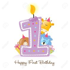 1st birthday images clip art ; 1c2f5f488e14fef8a833649335595e39--first-birthday-candle-happy-first-birthday
