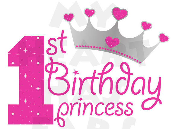 1st birthday images clip art ; 1st-birthday-princess-clipart-1