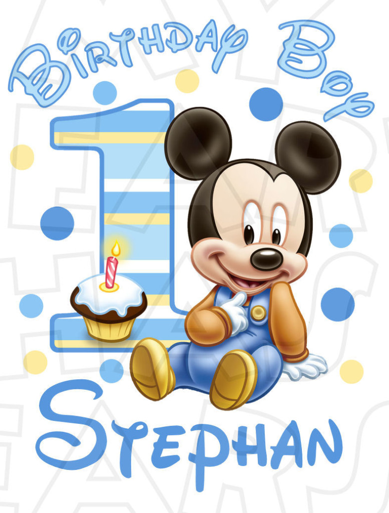 1st birthday images clip art ; babymickeyname-777x1024
