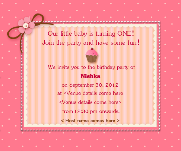 1st birthday invitation cards for daughter ; 1stBirthday_Invite_01
