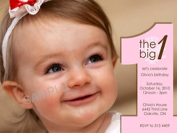 1st birthday invitation cards for daughter ; first-birthday-invitations-sample