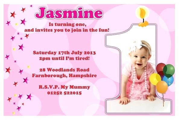 1st Birthday Invitation Wording Samples In Hindi Message
