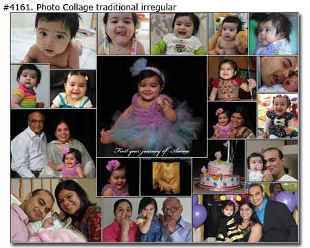 1st birthday photo collage maker ; 4161_01-Birthday-Collage-Traditional