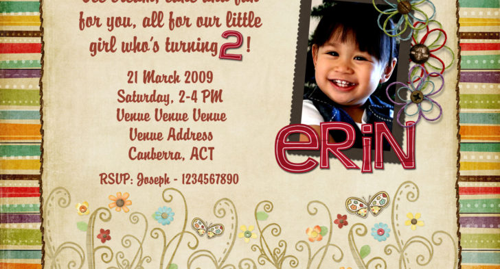 2 Year Old Birthday Invitation Rhymes Two