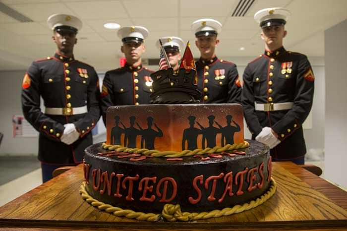 2018 marine corps birthday message ; marine-corps-birthday-cake