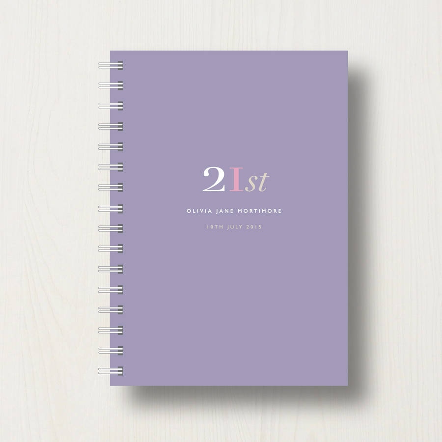 21st birthday photo book ; original_personalised-21st-birthday-journal-or-guest-book