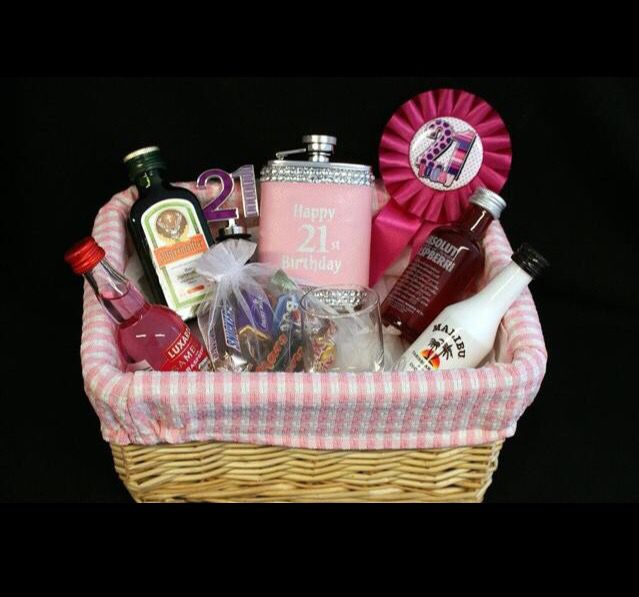21st birthday photo gifts ; birthday-presents-for-21-year-old-birthday-gifts-for-21-year-old-women-classy-21st-birthday-basket