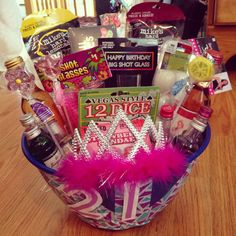 21st birthday photo gifts ; c00e860af36af2e765d7e27ed77ecc03--birthday-gift-baskets-st-birthday-gifts