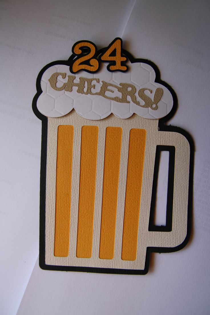 24th birthday card ; handmade-paper-crafting-cheers-beer-theme-24th-birthday-greeting-card-for-him-homemade-birthday-cards-for-men-birthday-men-30-ideas-of-happy-birthday-cards-for-him