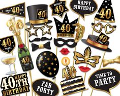 25th birthday photo booth props ; 8aeb574fa25e0ab32a61061c27c2833e--birthday-photo-booths-party-photo-booths