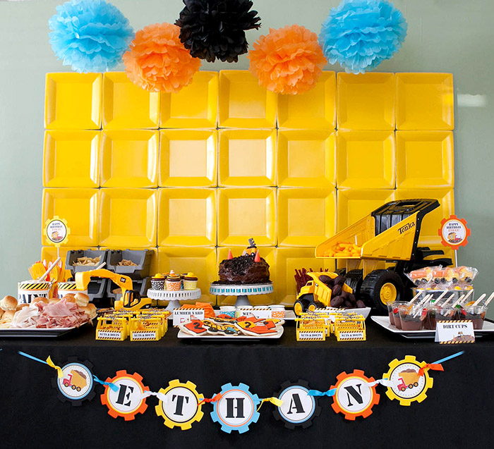 2nd birthday backdrop ; ConstructionPartyEthan_CL25