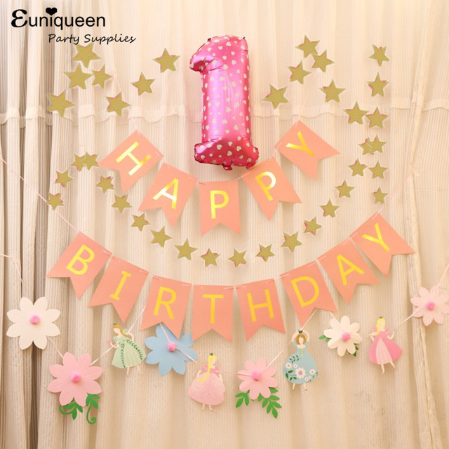 2nd birthday backdrop ; Girl-First-Birthday-idea-1st-2nd-3rd-4th-5th-year-old-Birthday-Party-Anniversary-Backdrops-Pink