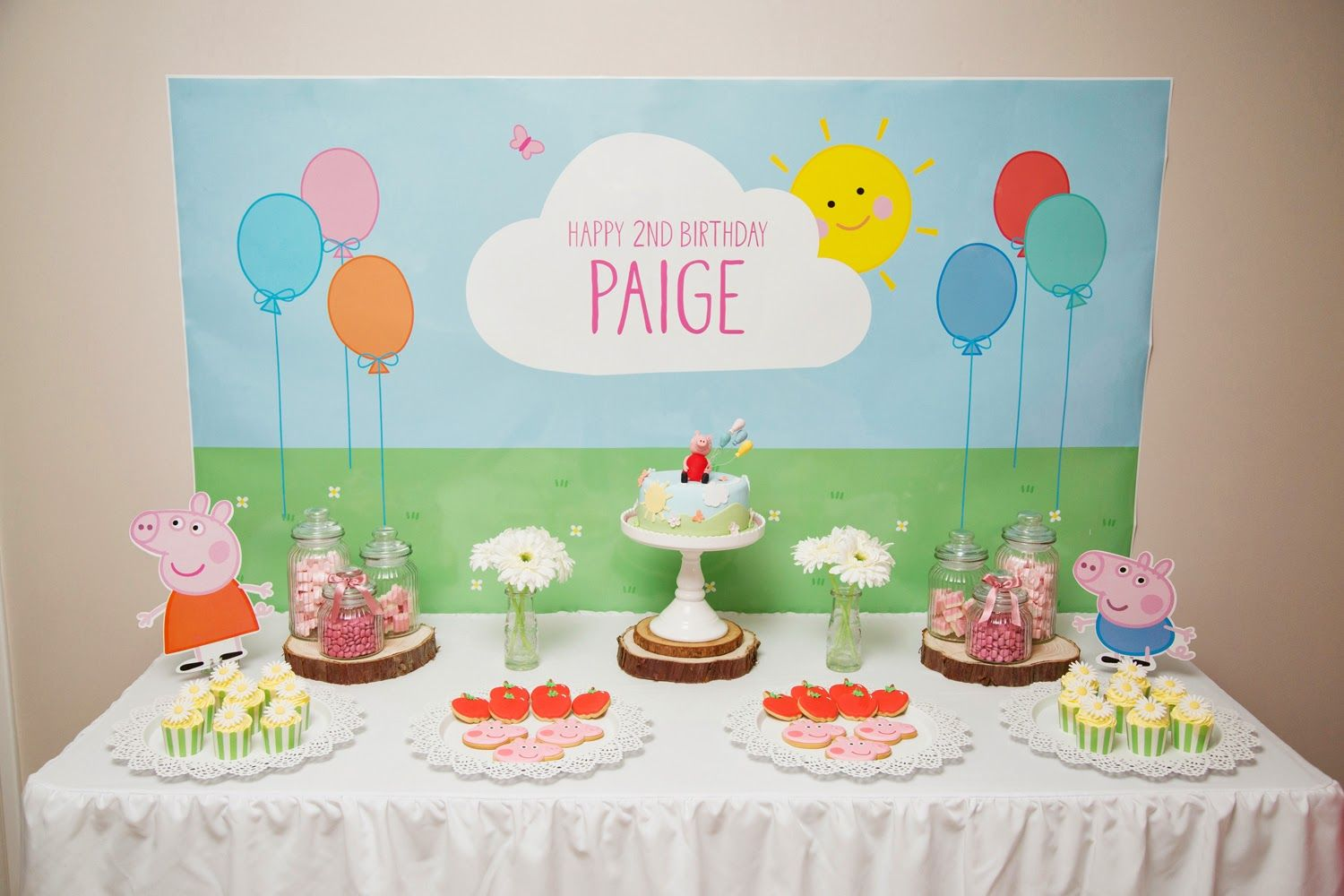 2nd birthday backdrop ; e453cd934d5b6c1ee819c93c1773a6b8