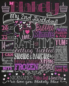 2nd birthday chalkboard template ; 2a15d6c901a5f52f35e2f11a239bee93--first-birthday-girl-themes-minnie-mouse-minnie-mouse-birthday-decorations