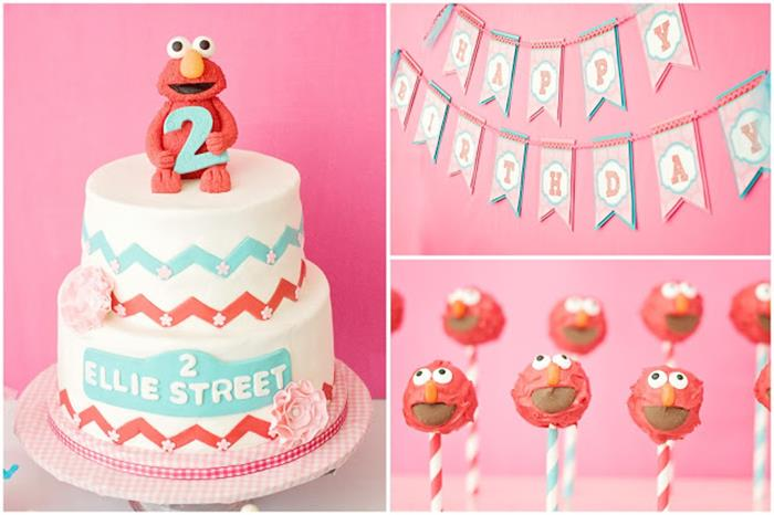2nd birthday party ideas for girl ; Girly-Elmo-2nd-Birthday-Party