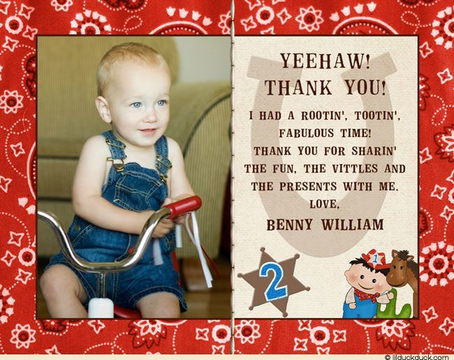 2nd birthday thank you card sayings ; little-cowboy-photo-thank-you-card-2nd-birthday-horseshoe