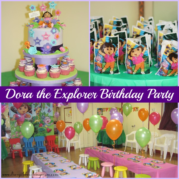 3 year old birthday party ; DoratheExplorerBirthdayParty