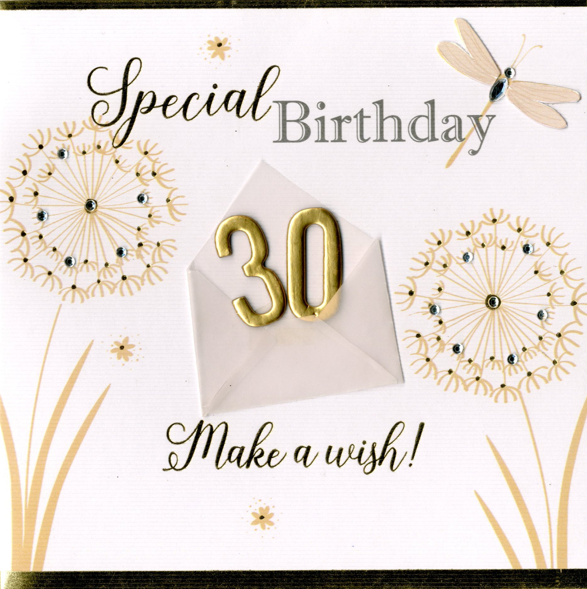 30th birthday greeting cards ; NH041