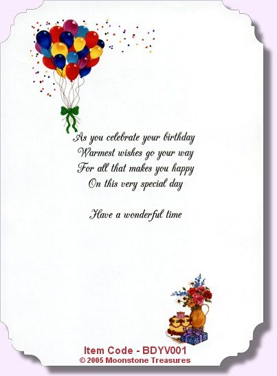 3rd birthday card verses ; special-friend-birthday-card-verses-birthday-card-verses-moonstone-treasures-write-it-pinterest
