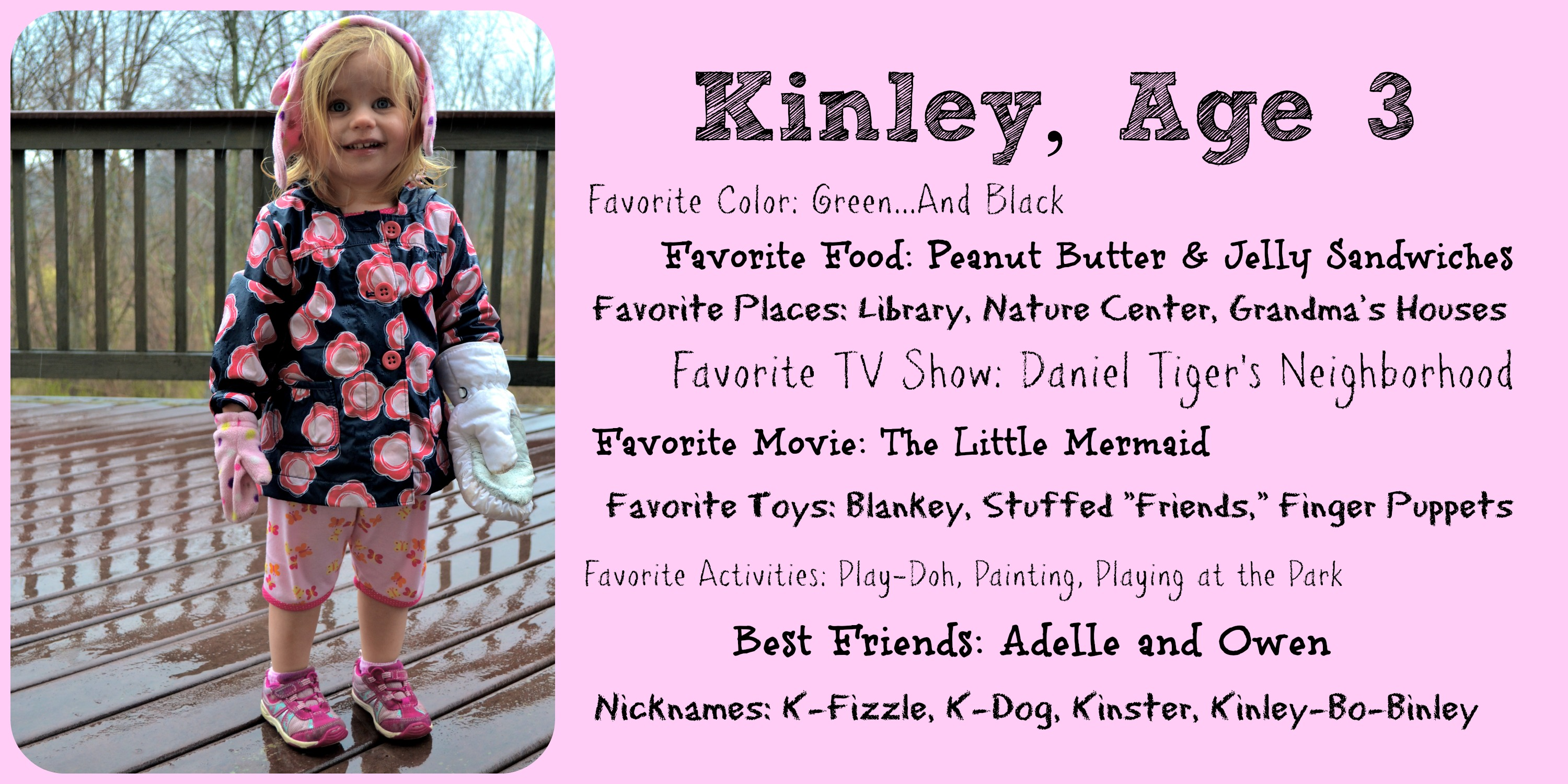 3rd birthday poem for daughter ; About-Kinley