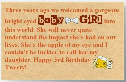 3rd birthday poem for daughter ; Daughter-birthday-Quotes