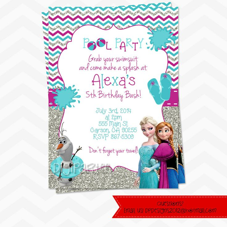 3rd Birthday Pool Party Invitation Wording