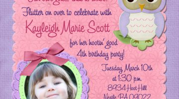 4 year old birthday invitation ; 4_year_old_birthday_invitation_sayings_turning_4_birthday_invitation_wording_girl_photo_owl_invitation_seafoam_4th_birthday_wording_girly_8-360x200