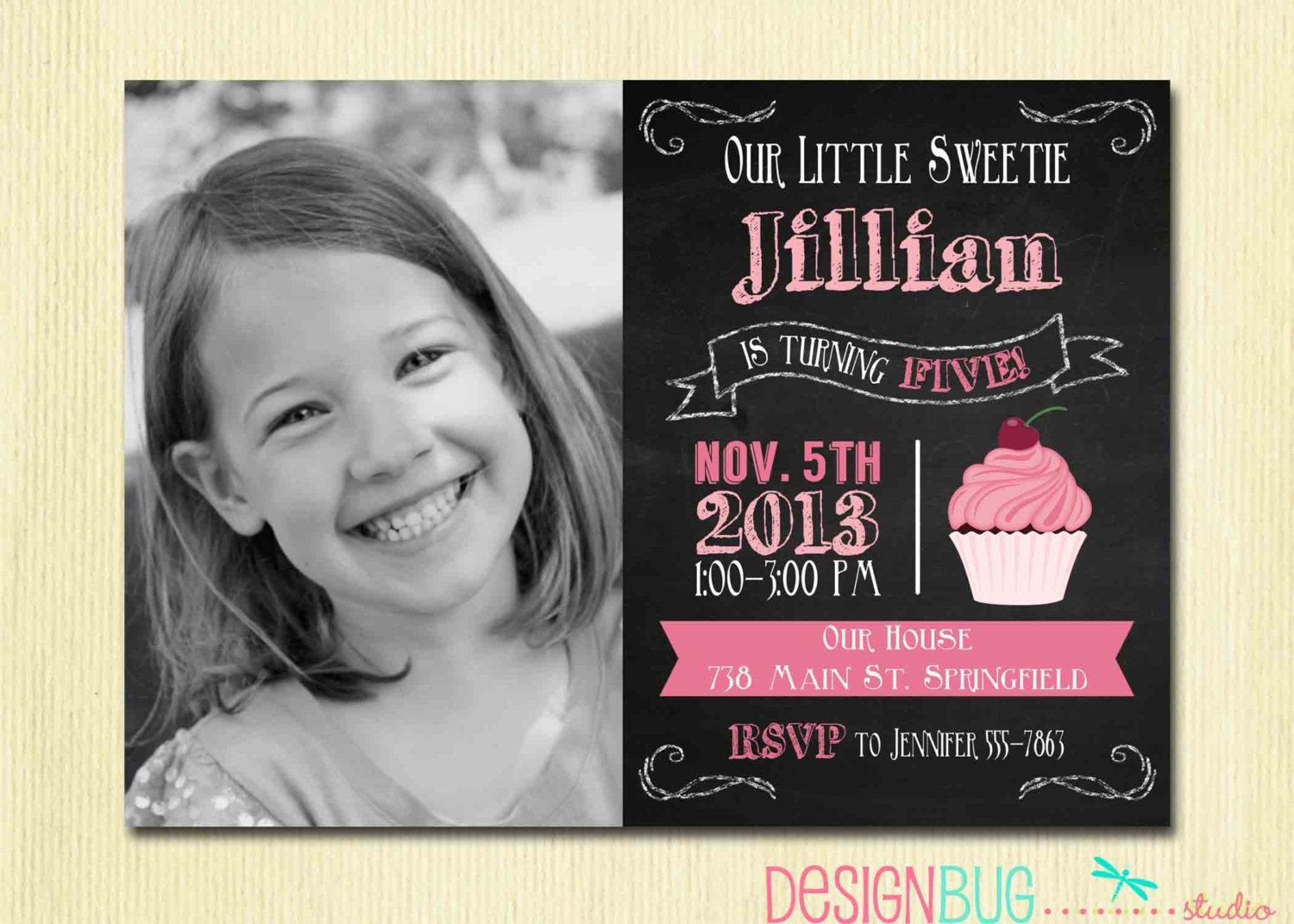 4 year old birthday invitation ; 65376c05e5941776de6a49852ca600c0