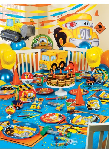 4 year old birthday party themes ; 10766811-first-birthday-party-construction-theme-for-1-year-old-boys