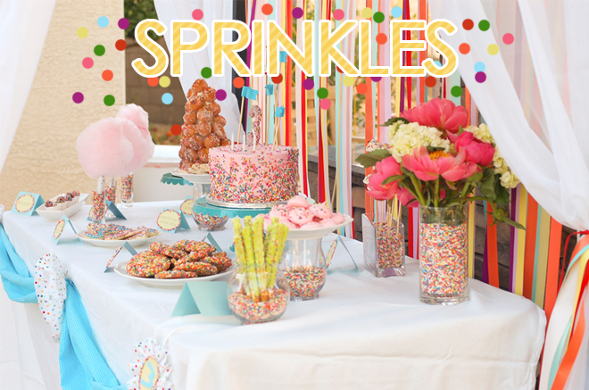 4 year old birthday party themes ; sprinkles-themed-birthday-party