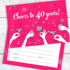 40 year old birthday invitation ideas ; 40th-Birthday-Party-Invitations-Ladies-Pink-and-Silver-300x300