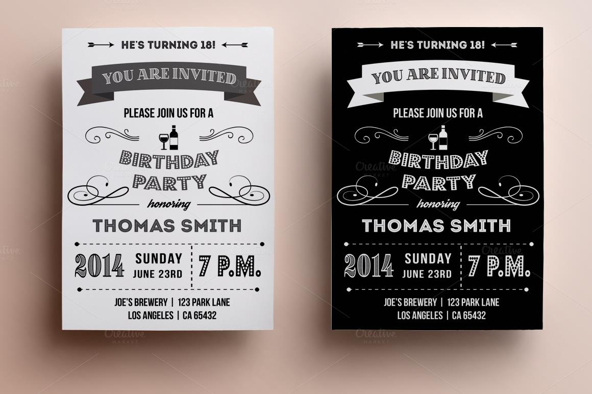 40th birthday card template free ; 1-o