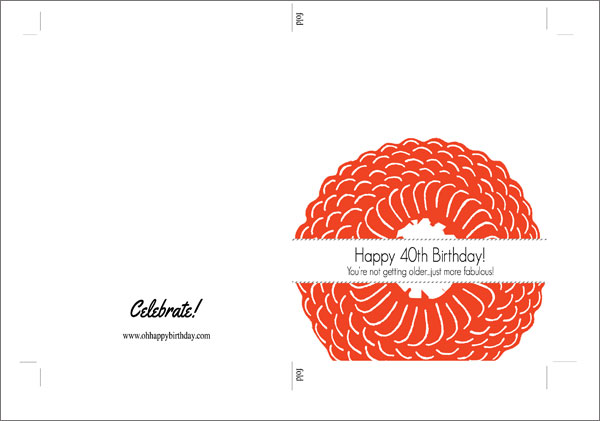 40th birthday card template free ; 40th-birthday-card-3-template