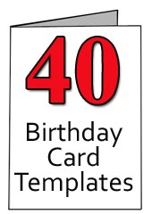 40th birthday card template free ; 40th-birthday-card-templates