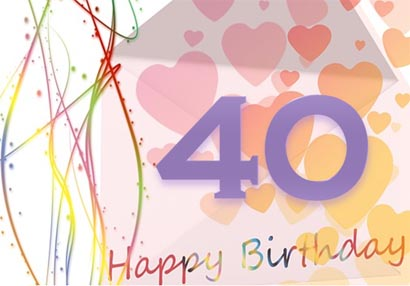 40th birthday card template free ; 40th-card-printable
