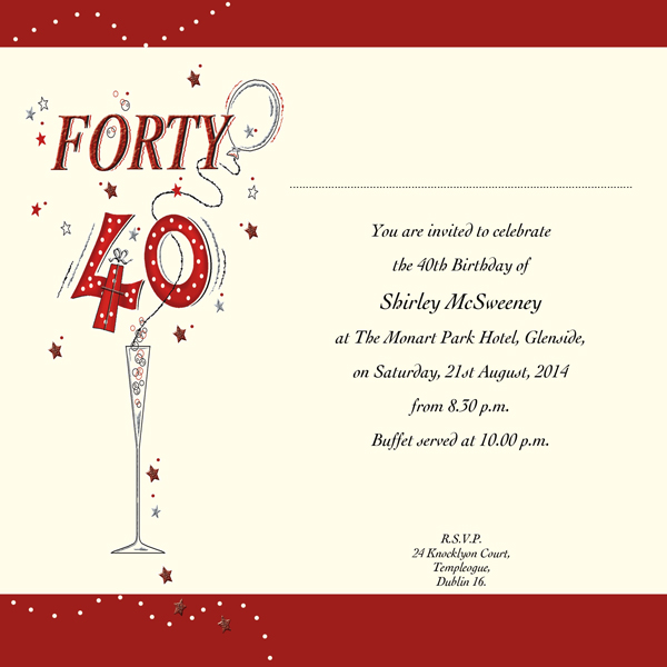40th birthday card template free ; Amusing-40Th-Birthday-Invitation-Wording-As-Prepossessing-Ideas-Free-Birthday-Invitation-Templates
