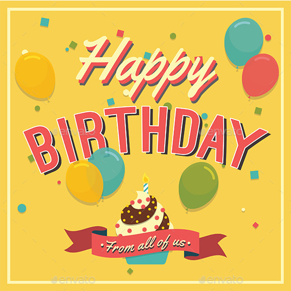 40th birthday card template free ; Designed-Birthday-Card-Template-Free-Download