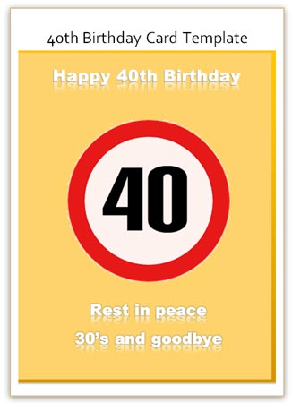 40th birthday card template free ; humorous-40th-birthday-cards-funny-40th-birthday-card-as-a-congratulation-template-free