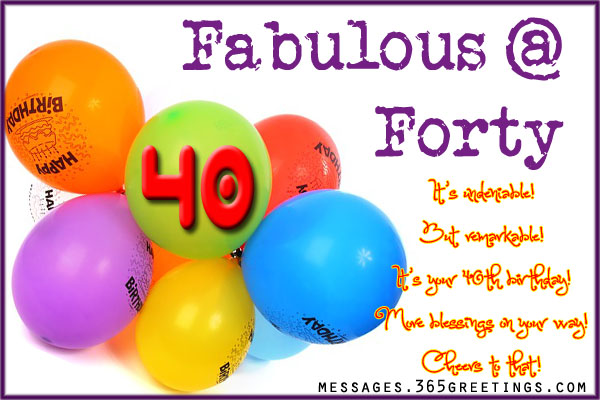 40th birthday message for wife ; 40th-birthday-greetings