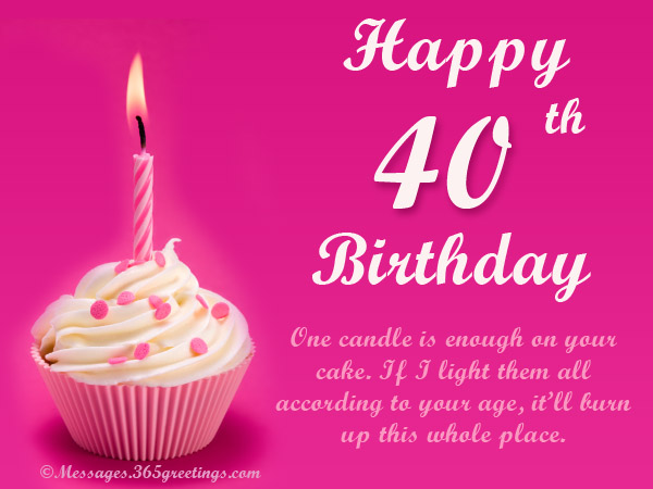 40th birthday message for wife ; 40th-card-messages