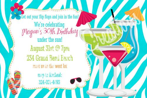 40th birthday pool party invitation wording ; Birthday-Party-Popular-Birthday-Party-Invitations-Ideas