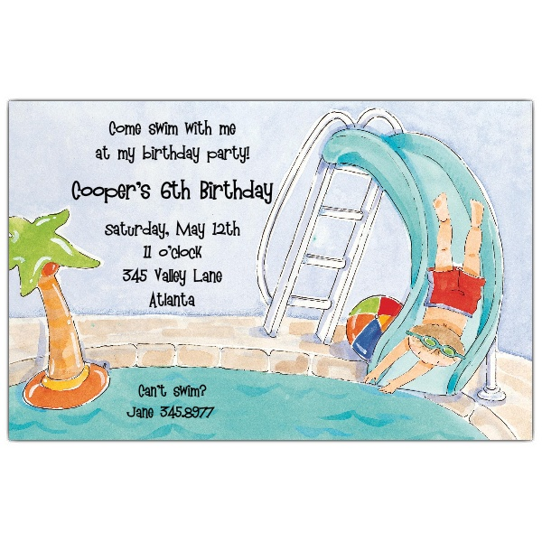 40th birthday pool party invitation wording ; His-Pool-Party-Invitations-p-612-85-D76-z
