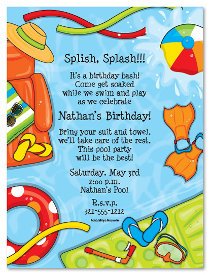 40th birthday pool party invitation wording ; Rd-Birthday-Pool-Party-Invitation-Cute-Pool-Party-Birthday-Invitation-Wording