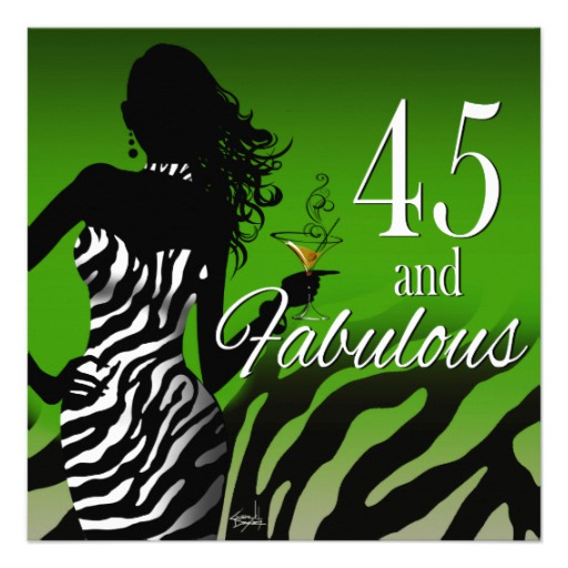 45th birthday invitation ; dawn_custom_bombshell_zebra_45th_birthday_invitation-r77711b2b599f4831ba1d3a14887c98de_imtet_8byvr_512