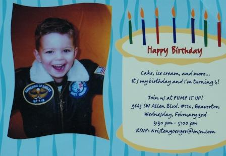 4th Birthday Invitation Wording Boy 3rd Party Message